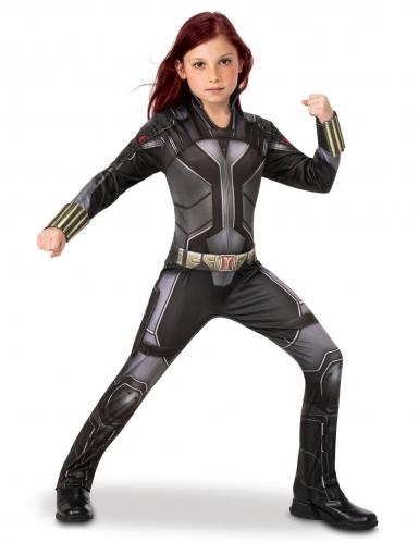 Black-Widow™-Kostüm für Kinder Superhelden-Anzug schwarz-grau