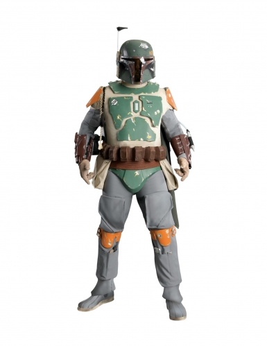 Boba-Fett-Kostüm Sammler-Edition Star-Wars™-Cosplay grau-grün-orange