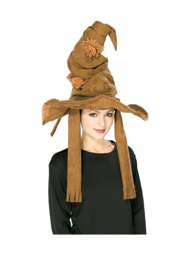 Sprechender Hut aus Harry Potter™ Accessoire Halloween braun
