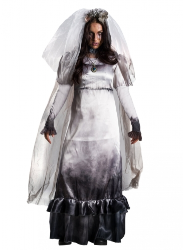 Geisterbraut-Kostüm Lloronas Fluch™ schwarz-weiss