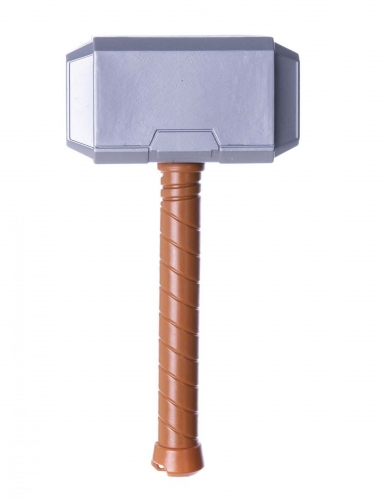 Superhelden-Hammer Spielzeug-Waffe grau-braun