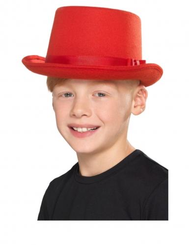 Eleganter Zylinder für Kinder rot 55 x 11 cm