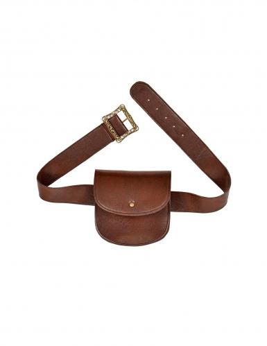 Gürtel mit Tasche Mittelalter-Accessoire braun