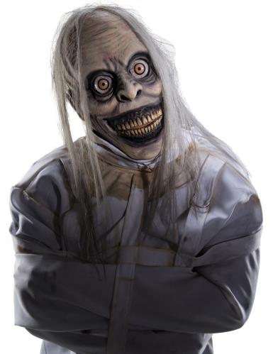 Verrückte Psycho-Maske für Erwachsene Halloween-Maske grau
