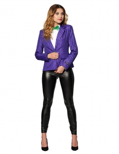 Mrs. Joker™-Damenkostüm Suitmeister™ Halloween-Kostüm violett