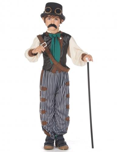 Steampunk-Kostüm für Jungen Gentleman braun-blau