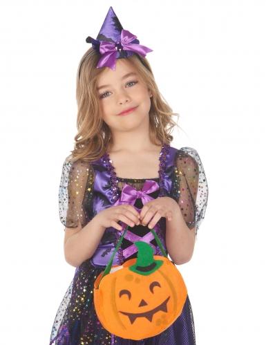 Halloween-Kürbistasche für Kinder orangefarben-grün