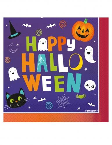 Lustige Halloween-Servietten 16 Stück 33 x 33 cm