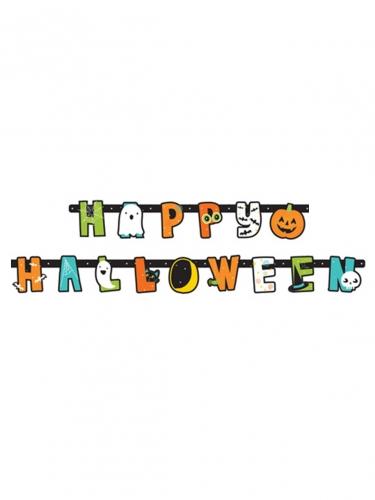 Niedliche Halloween-Girlande für Kinder 1,90 m bunt