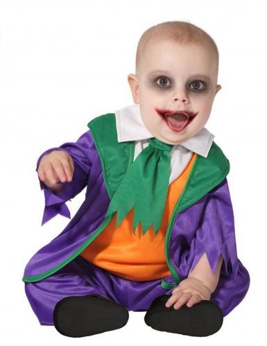 Halloween-Clown-Kostüm für Babys  lila-orange-grün