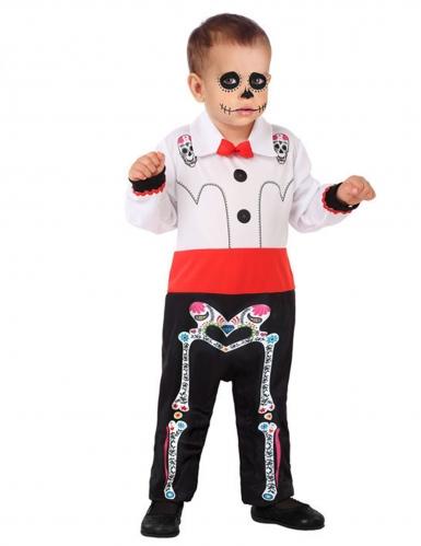 Dia-de-los-Muertos Kostüm für Babys und Kleinkinder Skelett-Overall bunt