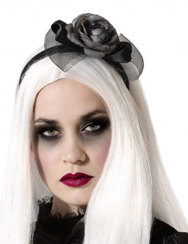 Haarreif Kostümaccessoire schwarz-grau