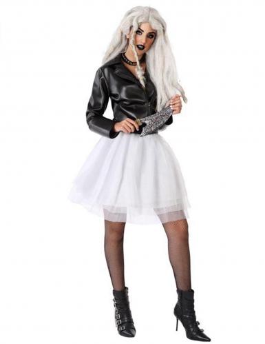 Mörderpuppen-Kostüm für Damen weiss-schwarz