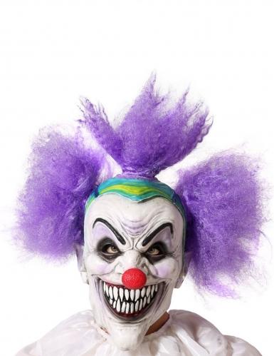 Horrorclown-Maske für Erwachsene Kostümzubehör bunt