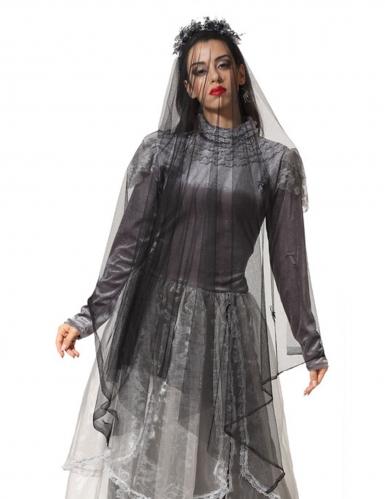 Geisterbraut-Schleier Kostüm-Accessoire für Halloween