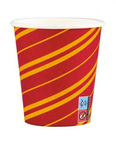 Zauberschüler-Trinkbecher Halloween-Tischdeko 6 Stück rot-gelb