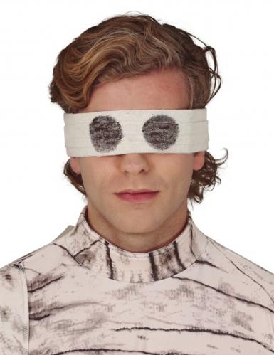 Augenbinde Mumie für Erwachsene schwarz-weiß 67 cm