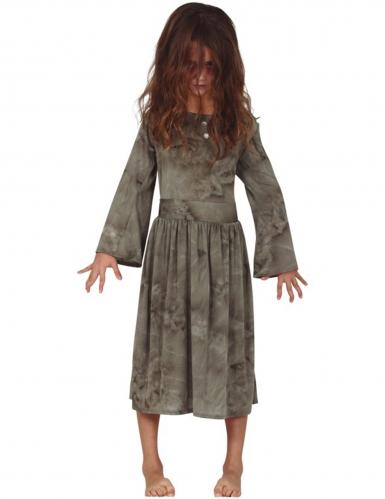 Zombiekostüm für Kinder Halloweenkostüm grau
