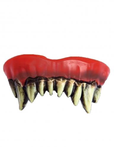 Horrorclown-Prothese für Erwachsene rot-weiß