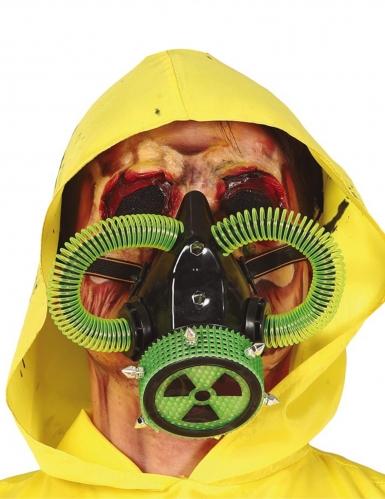 Gas-Maske radioaktiv Halloween-Maske grün-schwarz