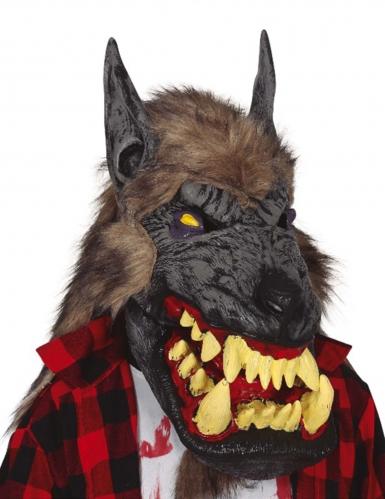 Werwolf-Maske mit riesigem Maul für Erwachsene bunt
