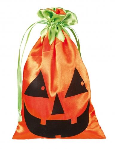 Kürbis-Beutel Halloween-Stofftasche 20 x 12 cm