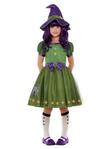 Hexenkostüm für Mädchen Santoro™ grün