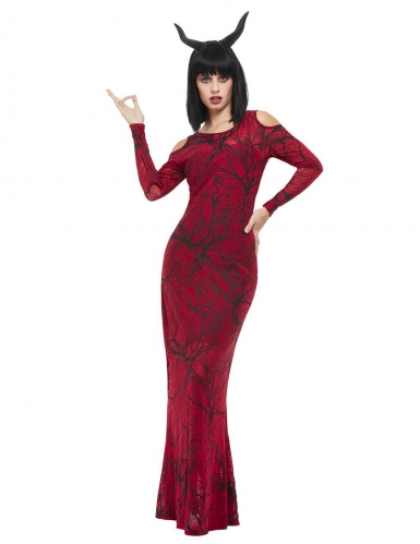 Teufelskostüm Halloweenkostüm für Damen schwarz-rot
