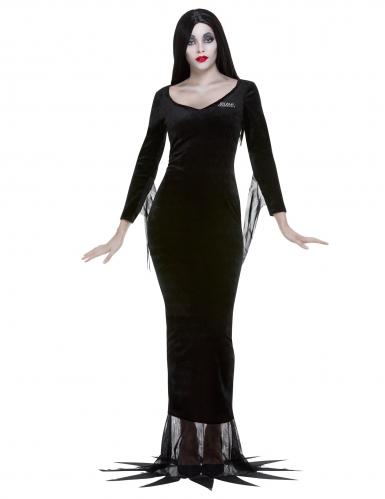 Morticia-Addams™-Kostüm mit Perücke Addams-Family™-Kostüm für Damen schwarz