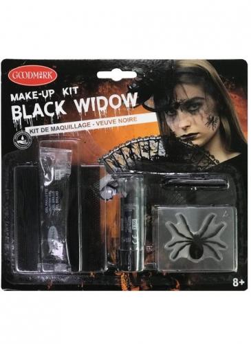 Schwarze Witwe Spinnen-Make-up-Set Halloween