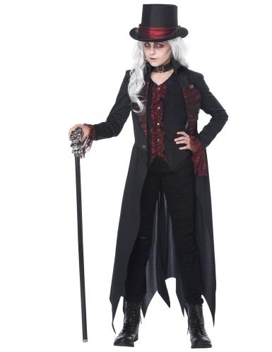 Gothic Vampir-Kostüm für Mädchen schwarz-rot