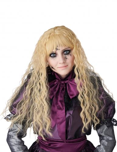 Horrorpuppen-Perücke für Kinder blond