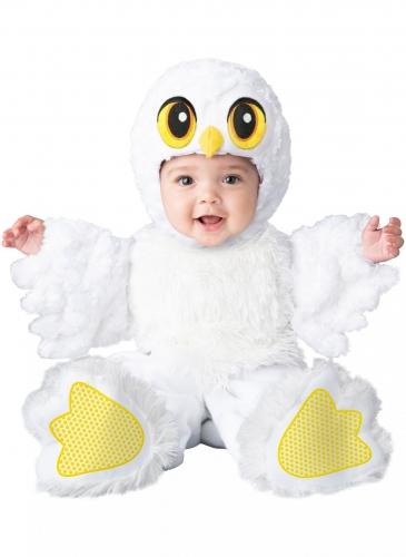 Süsses Eulen-Kostüm für Babys Halloweenkostüm weiss-gelb