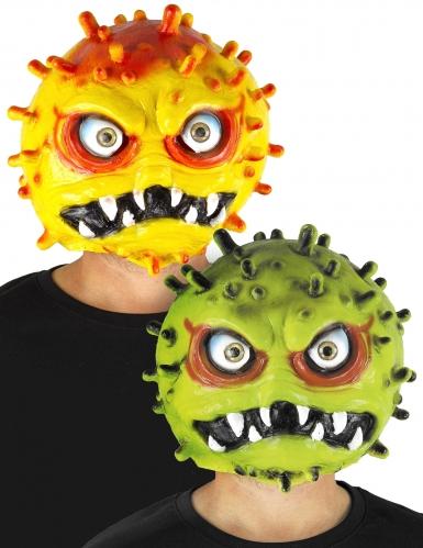 Lustige Corona-Maske für Erwachsene gelb-grün