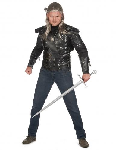 Hexer-Kostüm für Herren Halloween schwarz