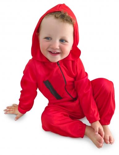 Bankräuber-Kostüm für Babys Halloween rot-schwarz