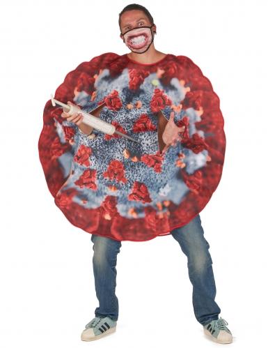 Corona Virus Kostüm für Erwachsene rot