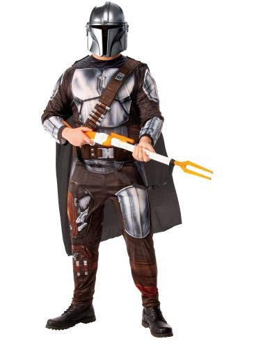 The-Mandalorian™-Kostüm für Erwachsene Star Wars™ silber-braun