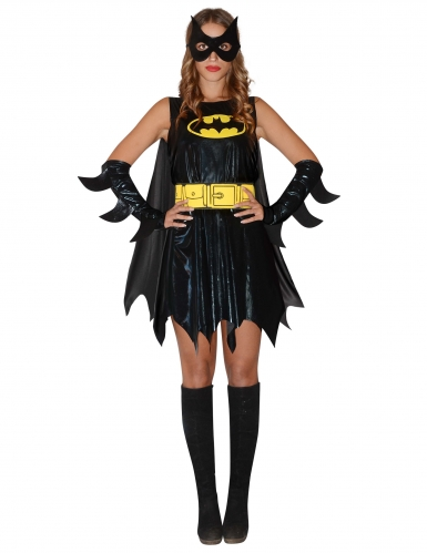 Batgirl™-Kostüm für Damen 8-teilig schwarz-gelb