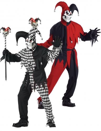 Gruselige Harlekin-Paar-Verkleidung für Erwachsene, Horrorclown