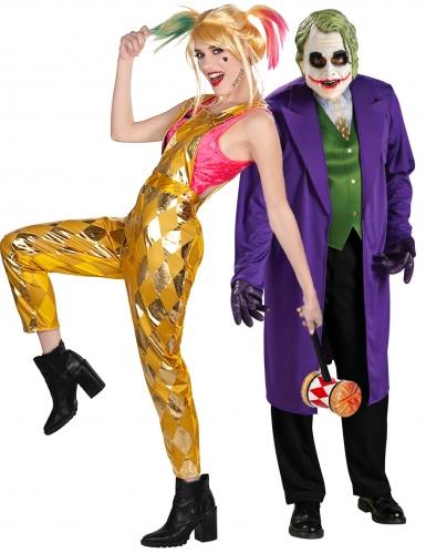Harley Quinn™ und Joker™-Paarkostüm Birds of Prey™ bunt