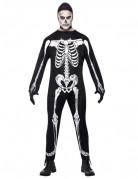 Finsteres Skelett Halloweenkostüm für Herren schwarz-weiss
