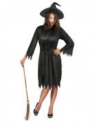 Klassisches Hexenkostüm Halloween-Damenkostüm schwarz