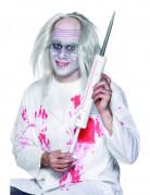 Riesenspritze für Erwachsene Halloween weiss-grau-rot 35cm