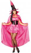 Luxus Hexen Cape Umhang pink