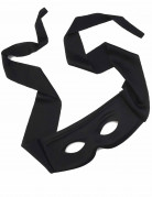 Rächermaske für Erwachsene schwarz