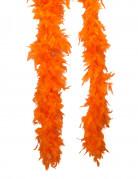 Feder-Boa Kostümzubehör orange 2m