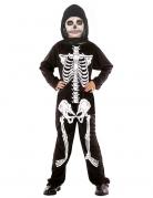 Kleiner Skelettjunge Halloween-Kinderkostüm schwarz-weiss