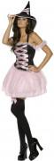 Süsse Zauberin Hexe Damenkostüm schwarz-rosa