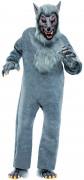 Werwolf-Kostüm Overall grau